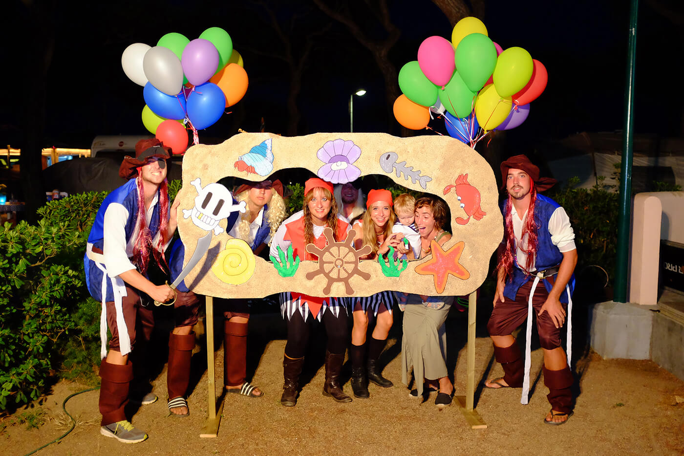 Campsite in Blanes with night parties and costumes
